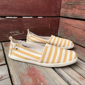 MadLove Yellow Striped Slip On Sneakers 9.5